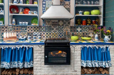 厨房混搭风格效果图大全2017图片_土拨鼠干净休闲厨房混搭风格装修设计效果图欣赏