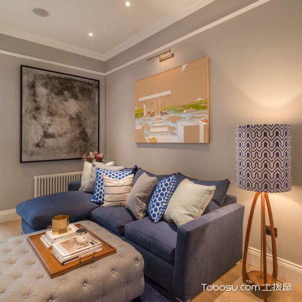 客厅灰色沙发现代风格装饰设计图片_土拨鼠装修效果图