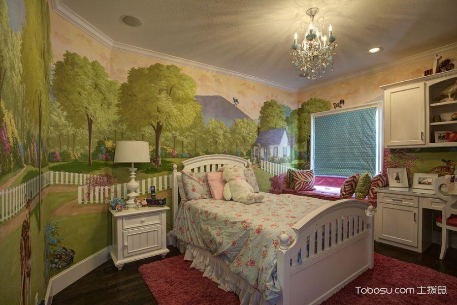 儿童房背景墙地中海风格装饰图片