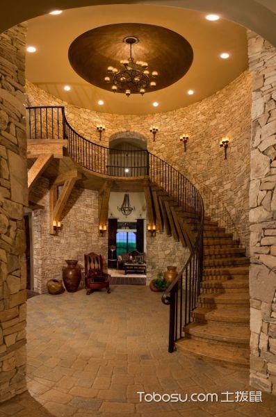 楼梯地中海风格效果图大全2017图片_土拨鼠温馨格调楼梯地中海风格装修设计效果图欣赏