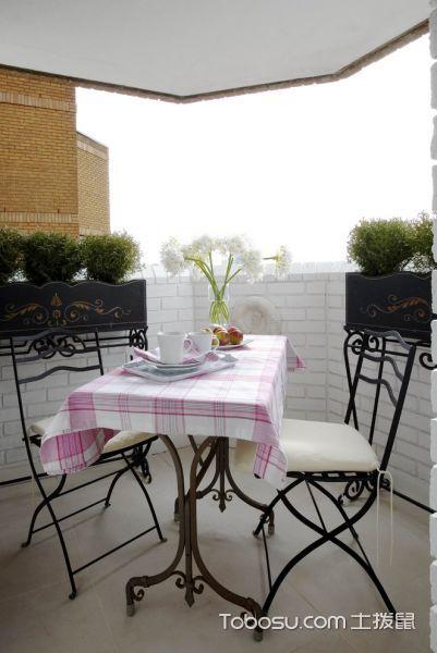 阳台白色背景墙混搭风格装修效果图