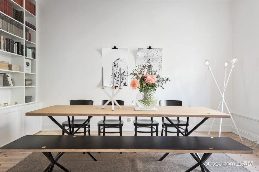 餐厅黄色餐桌北欧风格装修设计图片