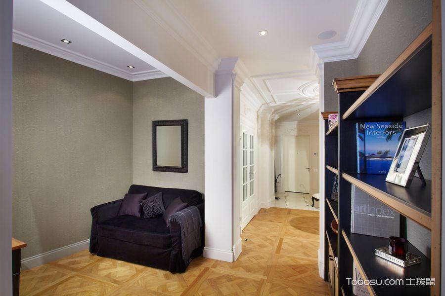玄关黄色走廊美式风格装潢效果图