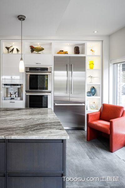 厨房现代风格效果图大全2017图片_土拨鼠潮流迷人厨房现代风格装修设计效果图欣赏