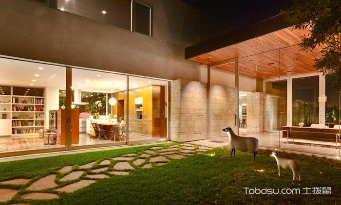 花园米色背景墙现代风格装潢设计图片
