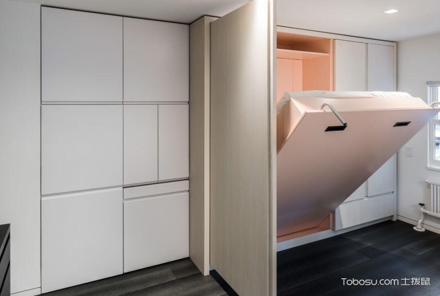 卧室白色衣柜现代风格装修设计图片