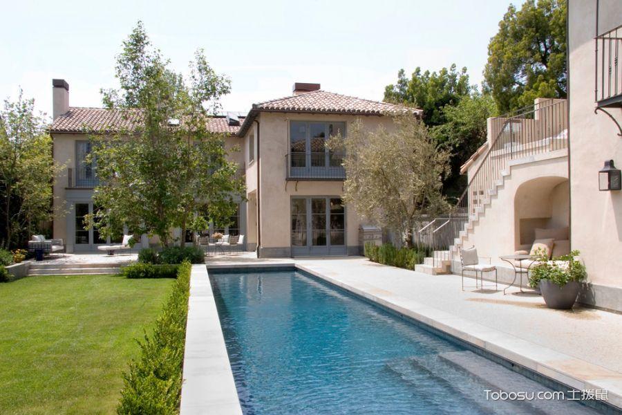 花园白色地板砖地中海风格效果图