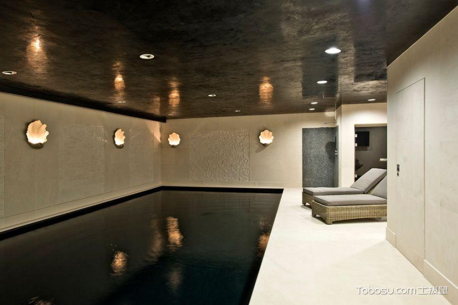 质感现代黑色泳池设计图
