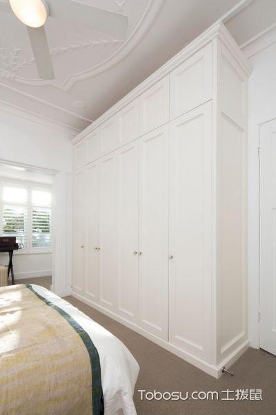 卧室白色衣柜现代风格装潢效果图