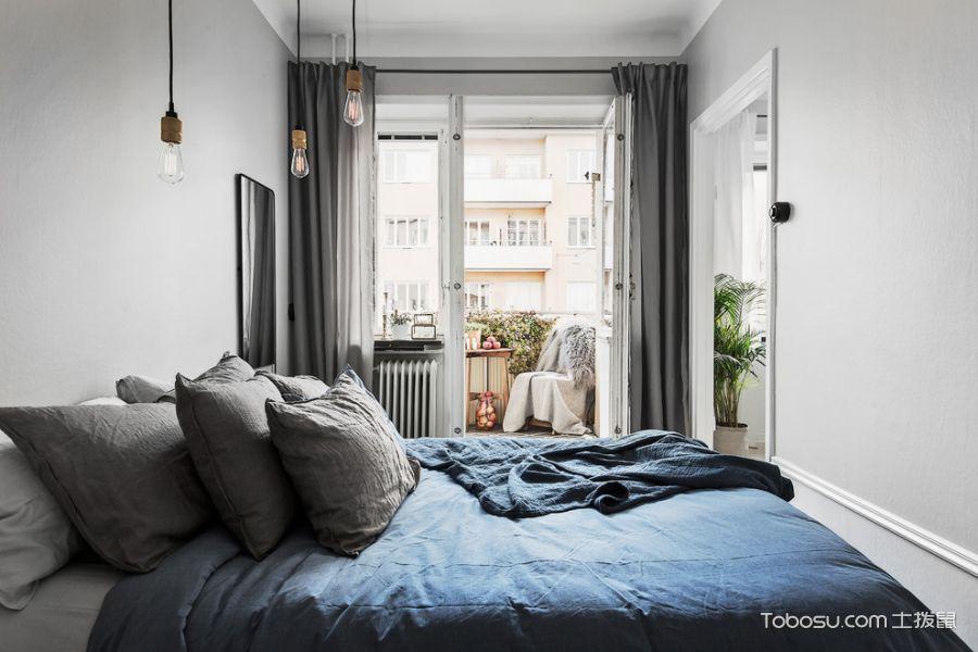 卧室北欧风格效果图大全2017图片_土拨鼠温馨沉稳卧室北欧风格装修设计效果图欣赏