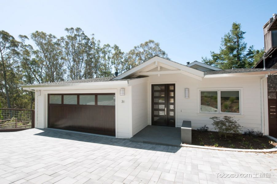 花园白色背景墙现代风格装修效果图
