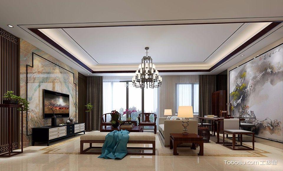 誉山国际新中式小别墅300平方装修效果图