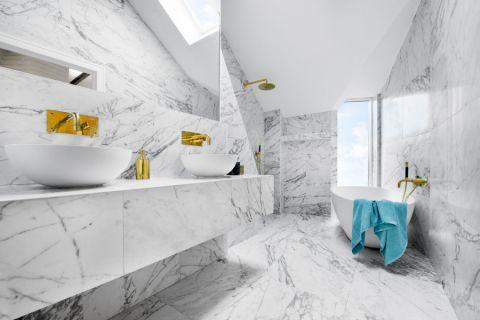 浴室现代风格效果图大全2017图片_土拨鼠潮流淡雅浴室现代风格装修设计效果图欣赏