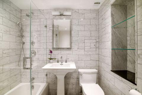 浴室美式风格效果图大全2017图片_土拨鼠优雅质朴浴室美式风格装修设计效果图欣赏