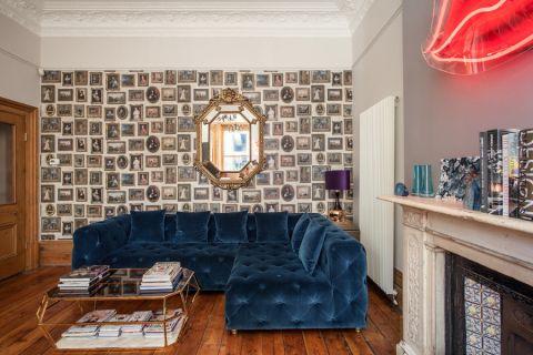 客厅混搭风格效果图大全2017图片_土拨鼠清爽沉稳客厅混搭风格装修设计效果图欣赏