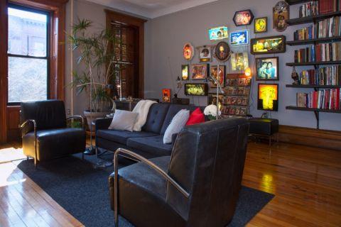 客厅混搭风格效果图大全2017图片_土拨鼠潮流质朴客厅混搭风格装修设计效果图欣赏
