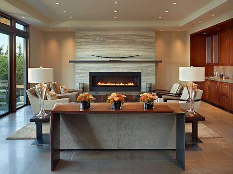 客厅现代风格效果图大全2017图片_土拨鼠古朴迷人客厅现代风格装修设计效果图欣赏