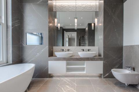 浴室现代风格效果图大全2017图片_土拨鼠干净质朴浴室现代风格装修设计效果图欣赏