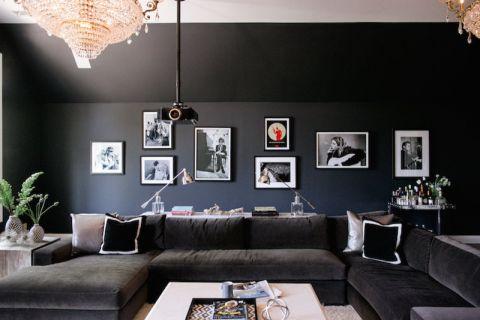 客厅现代风格效果图大全2017图片_土拨鼠个性沉稳客厅现代风格装修设计效果图欣赏