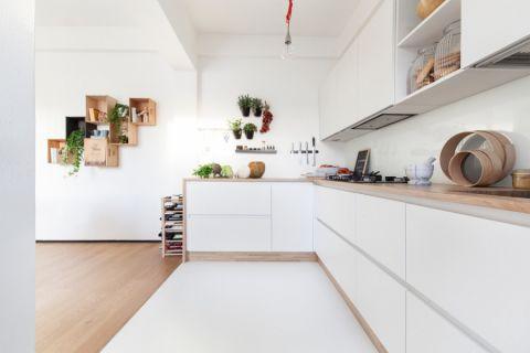 厨房现代风格效果图大全2017图片_土拨鼠简洁沉稳厨房现代风格装修设计效果图欣赏