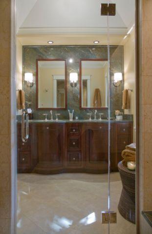浴室现代风格效果图大全2017图片_土拨鼠清新温馨浴室现代风格装修设计效果图欣赏
