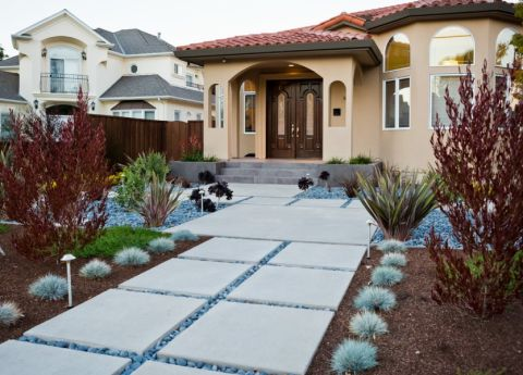 质感灰色花园装修案例图片