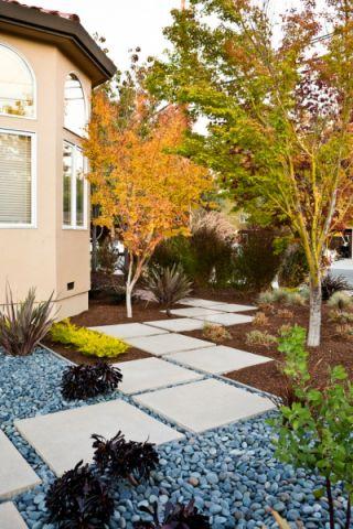 现代花园地砖设计图片