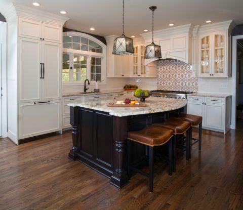 厨房美式风格效果图大全2017图片_土拨鼠温馨优雅厨房美式风格装修设计效果图欣赏