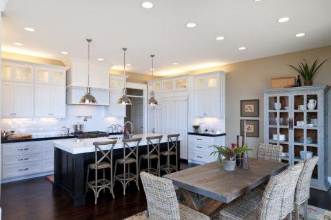 厨房美式风格效果图大全2017图片_土拨鼠精致时尚厨房美式风格装修设计效果图欣赏