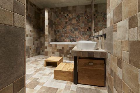 浴室混搭风格效果图大全2017图片_土拨鼠时尚时尚浴室混搭风格装修设计效果图欣赏