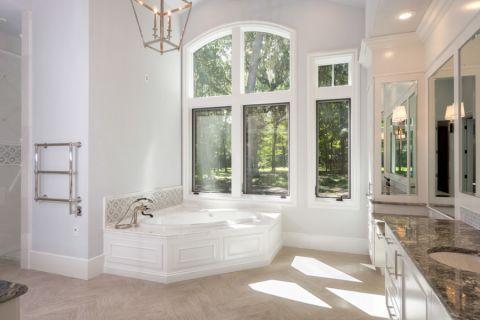 浴室美式风格效果图大全2017图片_土拨鼠清爽质朴浴室美式风格装修设计效果图欣赏