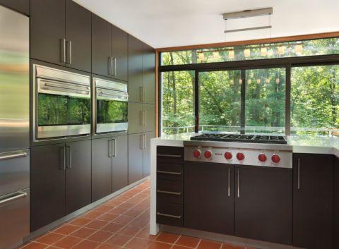 厨房现代风格效果图大全2017图片_土拨鼠完美富丽厨房现代风格装修设计效果图欣赏