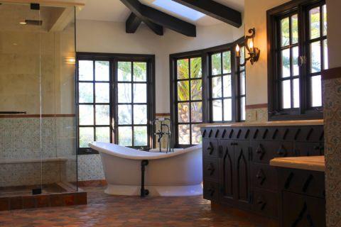 浴室地中海风格效果图大全2017图片_土拨鼠简洁休闲浴室地中海风格装修设计效果图欣赏