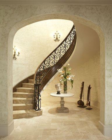 楼梯地中海风格装饰效果图