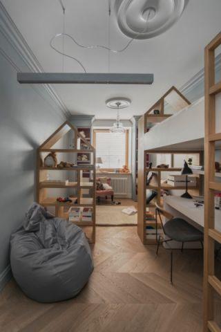 儿童房床混搭风格装修设计图片