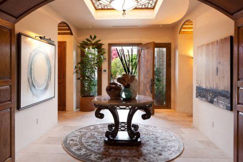 玄关背景墙地中海风格装修设计图片