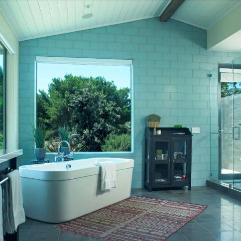 浴室地中海风格装潢效果图