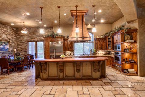 厨房厨房岛台地中海风格装修效果图