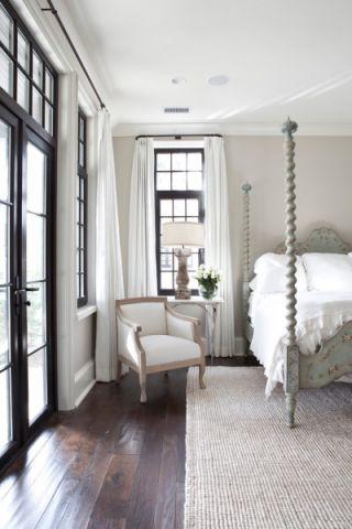 卧室白色吊顶美式风格装饰设计图片