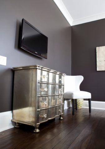 卧室灰色背景墙美式风格装修效果图