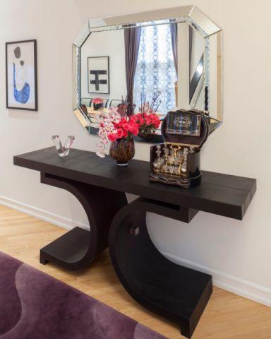客厅白色走廊美式风格装饰设计图片