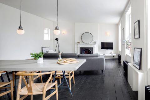 餐厅灰色走廊现代风格装修图片