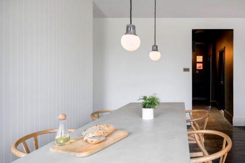 餐厅白色背景墙现代风格装饰设计图片