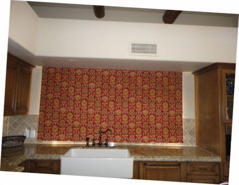 厨房彩色窗帘地中海风格装潢效果图