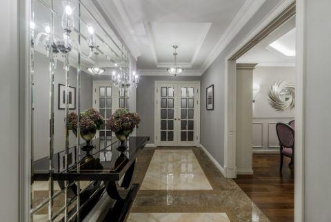 餐厅白色走廊美式风格装潢图片