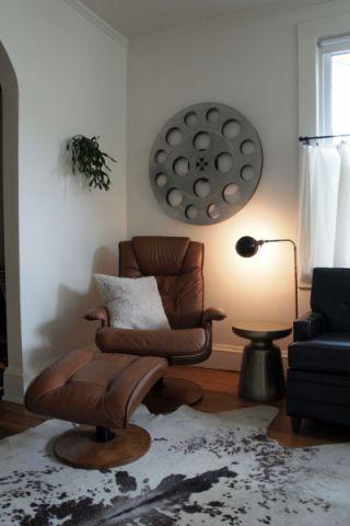 客厅白色混搭风格装潢效果图