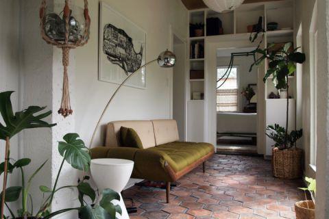 客厅绿色混搭风格装饰图片