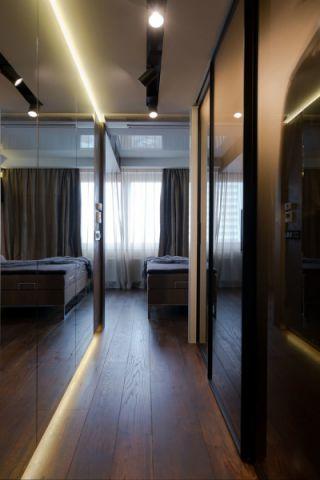 卧室咖啡色走廊现代风格装潢图片