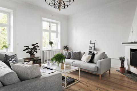 客厅白色茶几北欧风格装饰效果图