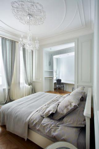 卧室白色吊顶美式风格效果图